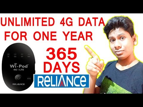 Jio Sim With Reliance 4G LTE WiPod Unboxing and First Look