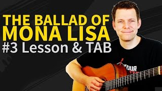 How To Play The Ballad Of Mona Lisa Acoustic Guitar Lesson #3 - Panic! At The Disco