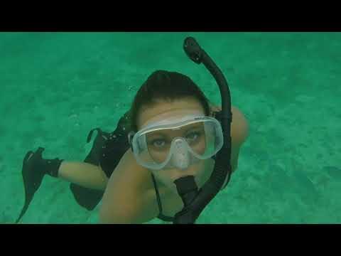 Sexy Snorkeling Lady Black Liberator Fins