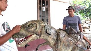 Inilah Robot Dinosaurus Ciptaan Pemuda Asal Kotagede, Yogyakarta
