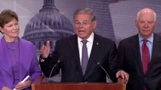 Menendez Unveils Countering Russian Hostilities Act with Bipartisan Senators