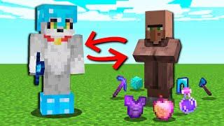 Paso MINECRAFT pero los ALDEANOS dan cosas OP 😱💎 Minecraft con los compas