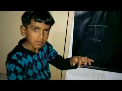 A B C D , youngest teacher teaching abcd in his unique style. fun with education