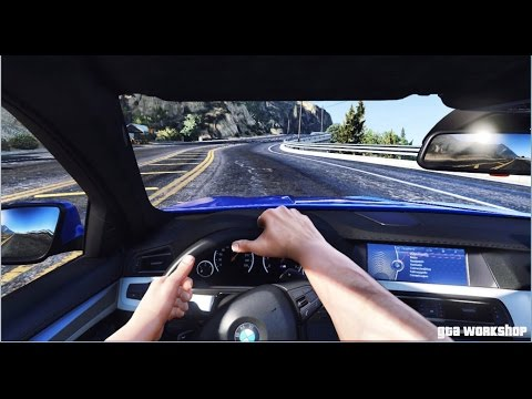 GTA 5 MOD   FIRST PERSON VIEW - BMW M5 F10 - 2016   COCKPIT