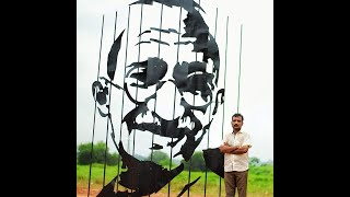 Kerala artist makes installation to commemorate Mahatma Gandhi - Download this Video in MP3, M4A, WEBM, MP4, 3GP