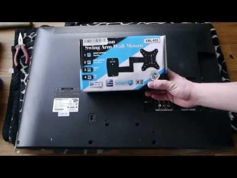 LCD Wandhalter anbringen Anleitung für 11,50€
