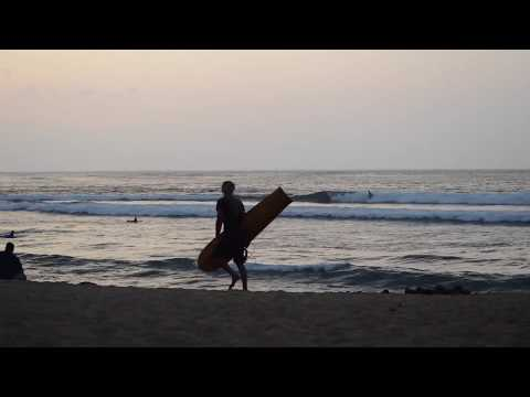Alaia surfing. 1st session on this board I just made. Mahalo Hawai'i