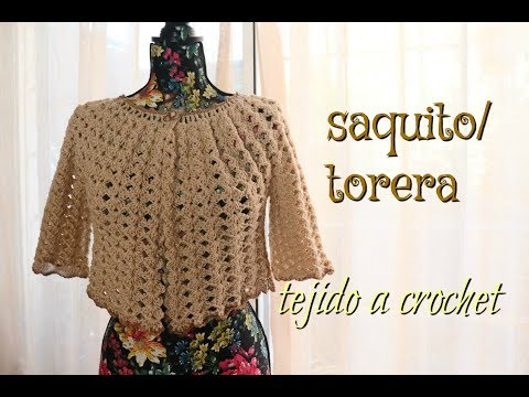 Saquito tipo Torera a Crochet