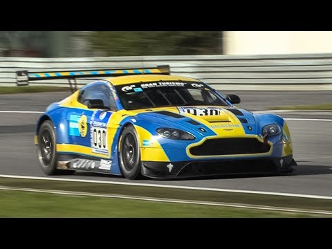 This is how the Aston Martin V12 Vantage GT3 sounds like with unmuffled exhaust!