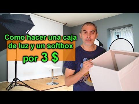 Como hacer una caja de luz y softbox  para fotografia de producto