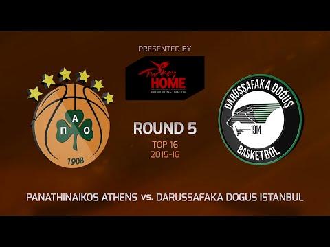 Highlights: Top 16, Round 5, Panathinaikos Athens 82-79 Darussafaka Dogus Istanbul