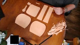 Handmade Leather Tooled Handbag Stage One