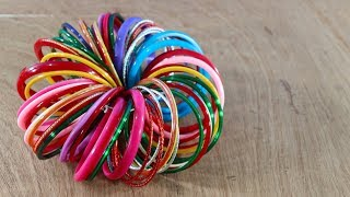 Amazing Craft Ideas With Old Bangles ! Waste Bangles Craft ideas ! Reuse Bangles !