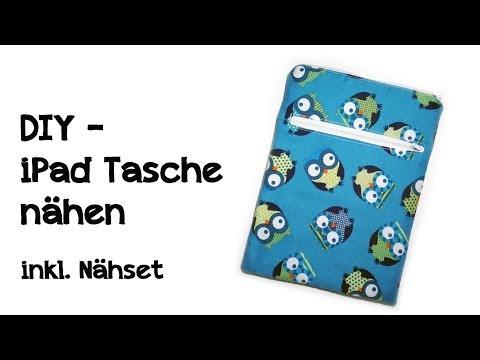 DIY - iPad Tasche / kindle Tasche nähen - inkl. Nähset zum nachmachen!