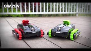 Радиоуправляемый вездеход Амфибия18SL02B зеленая и красная від компанії Дитячий магазин НЕМО - відео