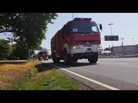 Column of 44 firetrucks, 150 firefighters from Poland on road to assist in recent Swedish fires.