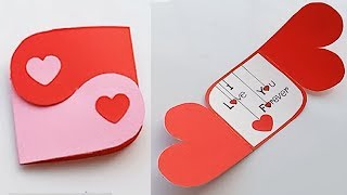 How to make Love Massage Card  for Boyfriend or Girlfriend // Handmade easy card Tutorial