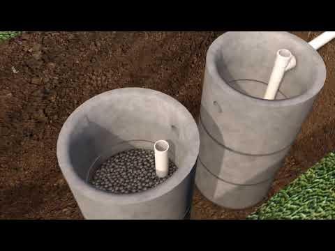 Септик из бетонных колец: весь процесс монтажа
