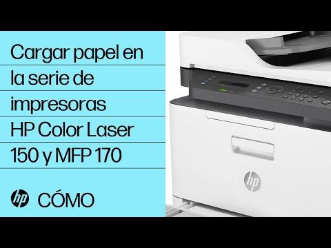 Cargar papel en la serie de impresoras HP Color Laser 150 y MFP 170