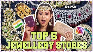 TOP 5 JEWELLERY STORES On Instagram INDIA   Festival & Wedding Design @ Rs.250   ThatQuirkyMiss