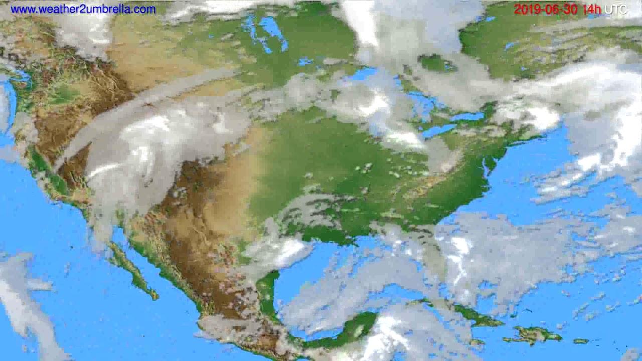 Cloud forecast USA & Canada // modelrun: 00h UTC 2019-06-28
