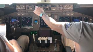 Заход и посадке во Франкфурте / Approach and landing in Frankfurt