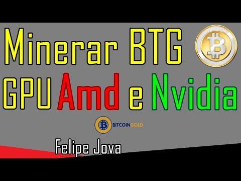 Minerar BTG GPU AMD e NVIDIA, Bitcoin Gold