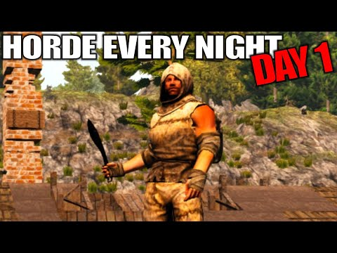 I set Daily Hordes & This Happened | 7 Days to Die | Horde Every Night Alpha 17 Gameplay | E01