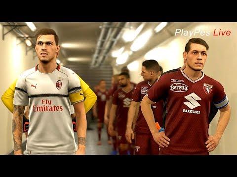 PES 2019 -TORINO vs MILAN - Full Match & Amazing Goals - Gameplay PC