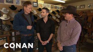 Conan Gives Jordan Schlansky A Cowboy Makeover - Video Youtube