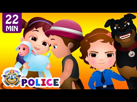 ChuChu TV Police Chase Thief in Police Car to Save Mary's Little Lamb | ChuChu TV Surprise Eggs Toys