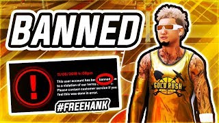 2K BANNED ME FOR LIFE AFTER I WON GOLD RUSH IN NBA 2K19 TWICE #FREEHANK