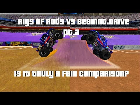 Rigs Of Rods Sim Monsters Vs BeamNG.Drive CRD Monster Truck Pt2