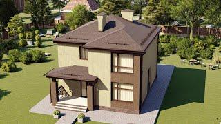 Проект дома 134-A, Площадь дома: 134 м2, Размер дома:  9,2x11 м