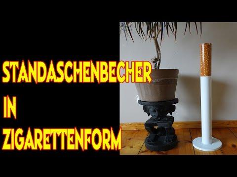 """""""STANDASCHENBECHER IN ZIGARETTENFORM"""""""