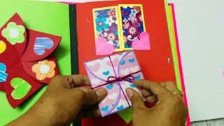 Easy SCRAP BOOK making Ideas for Him/Her : Tutorial how to organize scrapbook