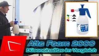 Alta Foam 2000 Schaumsprüher Düsen Vergleich - Schaumbild verändern Sonax Actifoam