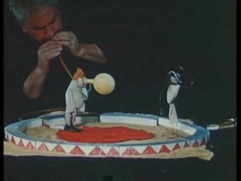 Alexander Calder performs his