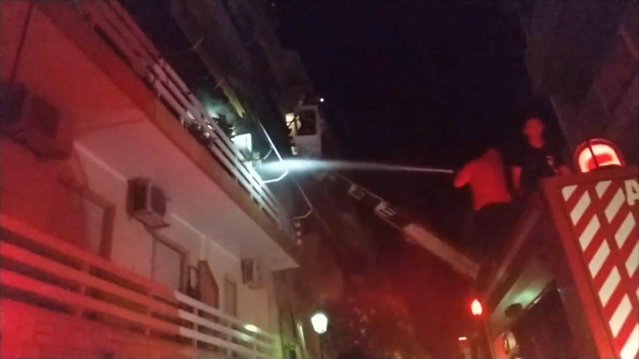Φωτιά σε πολυκατοικία στο Λουτράκι