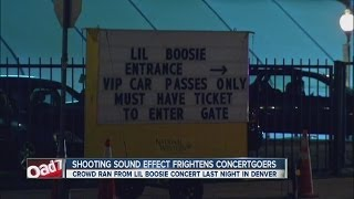 Shooting sound effect frightens concertgoers