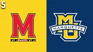 2019 College Basketball #5 Maryland vs Marquette Highlights