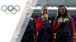 USA sprinters sweep the podium in Women's 100m Hurdles
