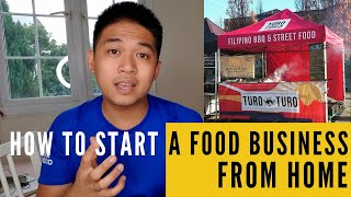 How to start a food business from home UK
