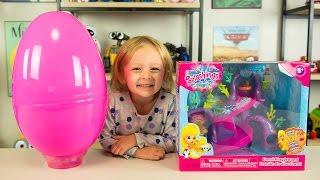 HUGE Splashlings Surprise Egg Toys Splashling Coral Playground Toy for Girls Kinder Playtime