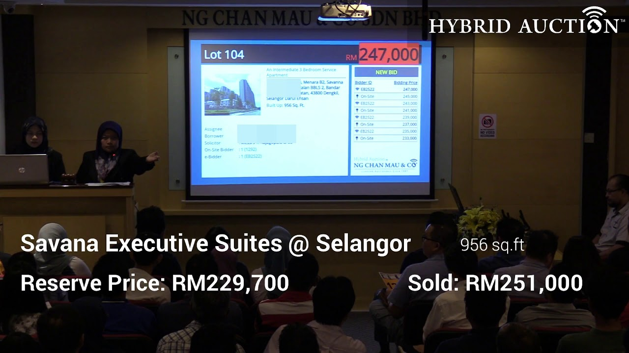 Savana Executive Suites @ Selangor SOLD by Hybrid Auction™