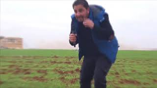 Cluster bomb lands near reporter during Russian airstrikes of Idlib, Syria.