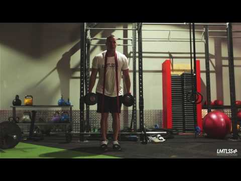 Romanian Dumbbell Deadlift with Band