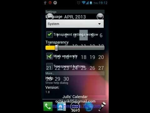 Video of Julls' Calendar Widget Lite