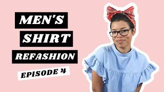 Mens Shirt Refashion | Ruffle Sleeve Smock Dress