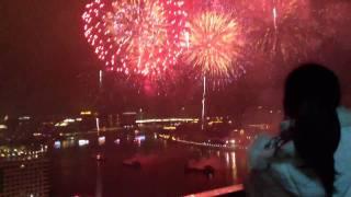 Video : China : Chinese New Year fireworks 2012, GuangZhou 广州